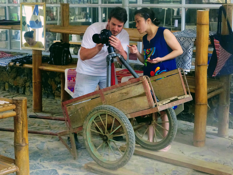 Journalism interns in Vietnam hard at work